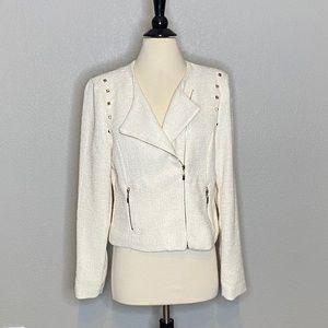 Gold Accents Cream Blazer Jacket Sz M